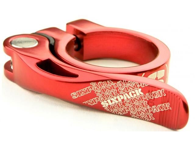Sixpack Menace Sattelklemme Ø31,8mm red